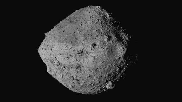 This undated image made available by NASA shows the asteroid Bennu. On Wednesday, scientists said they have a better handle on asteroid Bennu's whereabouts for the next 200 years.